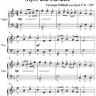 Dance of the Blessed Spirits Orfeo and Euridice Easiest Piano PDF