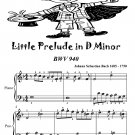 Little Prelude in D Minor Bwv 940 Easiest Piano Sheet Music Tadpole Edition PDF