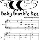 Baby Bumble Bee Beginner Piano Sheet Music Tadpole Edition PDF