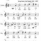 Greensleeves Easy Violin Sheet Music PDF