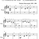 Great Gate of Kiev Pictures at an Exhibition Beginner Piano Sheet Music PDF