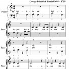 Hallelujah Chorus the Messiah Beginner Piano Sheet Music PDF
