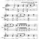 Grandfather's Waltz Nutcracker Suite Elementary Piano Sheet Music PDF