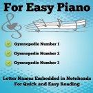 Gymnopedies for Easy Piano Sheet Music PDF