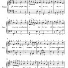 Sweet Nymph Come to Thy Lover Easy Piano Sheet Music PDF