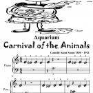 Aquarium Carnival of the Animals Beginner Piano Sheet Music Tadpole Edition PDF