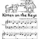 Kitten On the Keys Beginner Piano Sheet Music Tadpole Edition PDF