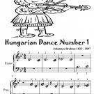 Hungarian Dance Number 1 Beginner Piano Sheet Music Tadpole Edition PDF