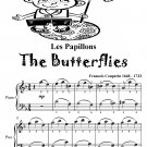 Les Papillons Butterflies Easiest Piano Sheet Music Tadpole Edition PDF