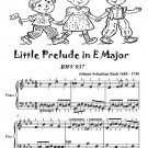 Little Prelude in E Major Bwv 937 Easiest Piano Sheet Music Tadpole Edition PDF