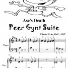 Ase's Death Peer Gynt Suite Beginner Piano Sheet Music Tadpole Edition PDF
