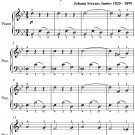 Viennese Sweets Waltz Opus 307 Easy Piano Sheet Music PDF