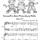 Farewell to Saint Petersburg Waltz Opus 210 Easiest Piano Sheet Music Tadpole Edition PDF