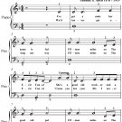 Erie Canal Easy Piano Sheet Music PDF