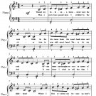 On the Banks of the Wabash Easy Piano Sheet Music PDF