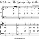 Has Sorrow Thy Young Days Shaded Easy Piano Sheet Music PDF