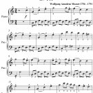 Menuet Number 1 Kv 315 Easiest Piano Sheet Music PDF