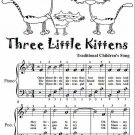 Three Little Kittens Easiest Piano Sheet Music Tadpole Edition PDF
