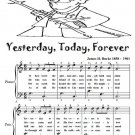 Yesterday Today Tomorrow Easy Piano Sheet Music Tadpole Edition PDF