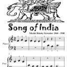Song of India Beginner Piano Sheet Music Tadpole Edition PDF
