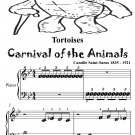Tortoises Carnival of the Animals Beginner Piano Sheet Music Tadpole Edition PDF