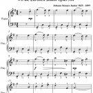 Where the Lemon Trees Bloom Wo die Zitronen Bluhn Opus 364 Easy Piano Sheet Music