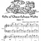 Gifts of Cheerfulness Waltz Opus 73 Easiest Piano Sheet Music Tadpole Edition PDF
