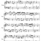 An Unnamed Piece of the Character of an Alman Easy Piano Sheet Music PDF