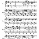 Spinning Song Elementary Piano Sheet Music PDF