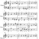 Sarabande Easy Piano Sheet Music PDF