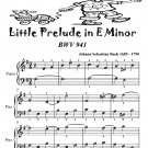 Little Prelude in E Minor Bwv 941 Easiest Piano Sheet Music Tadpole Edition PDF