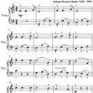 Telegram Waltz Opus 318 Easiest Piano Sheet Music PDF