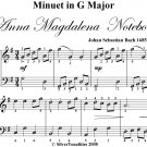 Minuet In G Major Anna Magdalena BWV Anh 116 Notebook Easy Piano Sheet Music PDF
