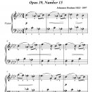 Waltz Opus 39 Number 15 Easy Piano Sheet Music PDF
