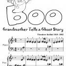 Grandmother Tells a Ghost Story Beginner Piano Sheet Music Tadpole Edition PDF