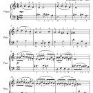 Duke of Brunswick's Alman Easy Piano Sheet Music PDF