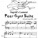 Ingrid's Lament Peer Gynt Suite Beginner Piano Sheet Music Tadpole Edition PDF