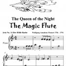 Queen of the Night Magic Flute Beginner Piano Sheet Music Tadpole Edition PDF