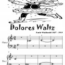 Dolores Waltz Beginner Piano Sheet Music Tadpole Edition PDF