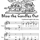 Blow the Candles Out Beginner Piano Sheet Music Tadpole Edition PDF
