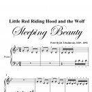Little Red Riding Hood and the Wolf Beginner Piano Sheet Music PDF