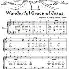 Wonderful Grace of Jesus Easy Piano Sheet Music Tadpole Edition PDF