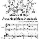 March In D Major Anna Magdalena Notebook Beginner Piano Sheet Music Tadpole Edition PDF