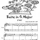 Suite in G Major Z 662 Easy Piano Sheet Music Tadpole Edition PDF