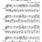 Sentimental Waltz in A Major Opus 50 Number 13 Easy Piano Sheet Music PDF