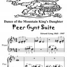 Dance of the Mountain King's Daughter Peer Gynt Suite Beginner Piano Sheet Music Tadpole Edition