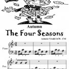 Autumn the Four Seasons Beginner Piano Sheet Music Tadpole Edition PDF