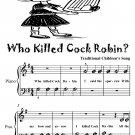 Who Killed Cock Robin Beginner Piano Sheet Music PDF