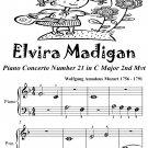 Elvira Madigan Beginner Piano Sheet Music Tadpole Edition PDF
