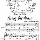 Fairest Isle King Arthur Beginner Piano Sheet Music Tadpole Edition PDF